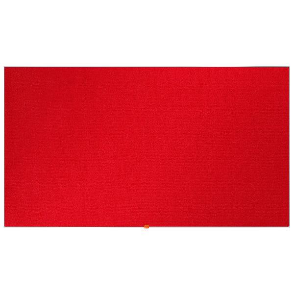 """Nobo Widescreen 85"""" Red Felt Noticeboard, 1880 x 1060mm"""