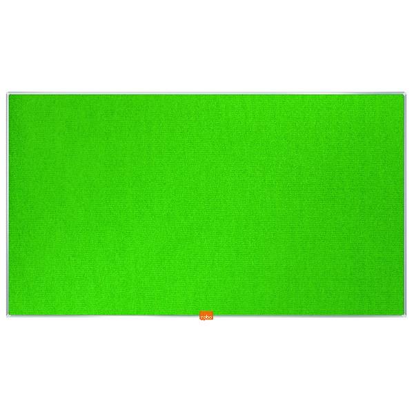 "Felt Nobo Widescreen 40"" Green Felt Noticeboard, 890 x 500mm"