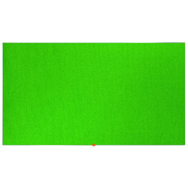 "Nobo Widescreen 85"" Green Felt Noticeboard, 1880 x 1060mm"