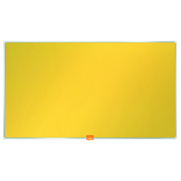 Nobo Widescreen Noticeboard 32 Inch Felt Yellow 1905318