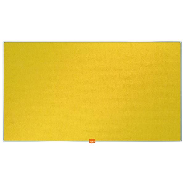 """Nobo Widescreen 40"""" Yellow Felt Noticeboard, 890 x 500mm"""