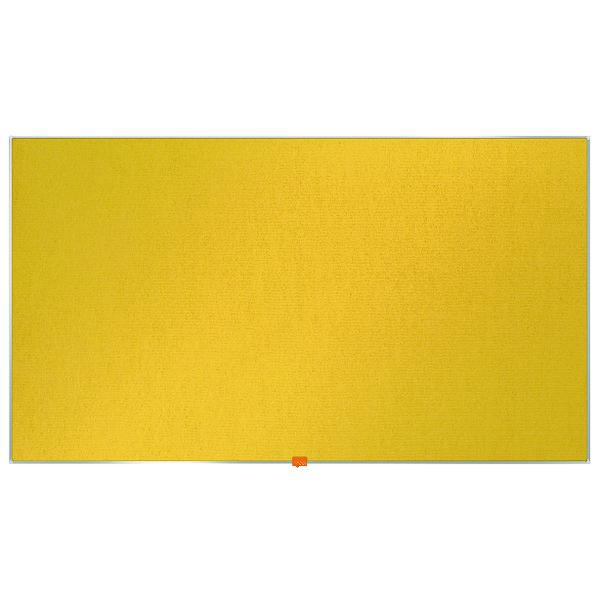 """Nobo Widescreen 55"""" Yellow Felt Noticeboard, 1220 x 690mm"""