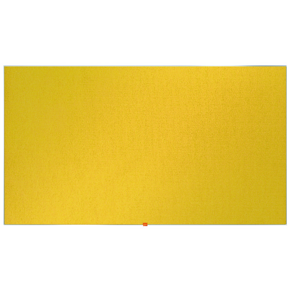 "Nobo Widescreen 85"" Yellow Felt Noticeboard, 1880 x 1060mm"