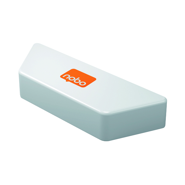 Cleaning/Erasing Nobo Magnetic Whiteboard Eraser White 1905325