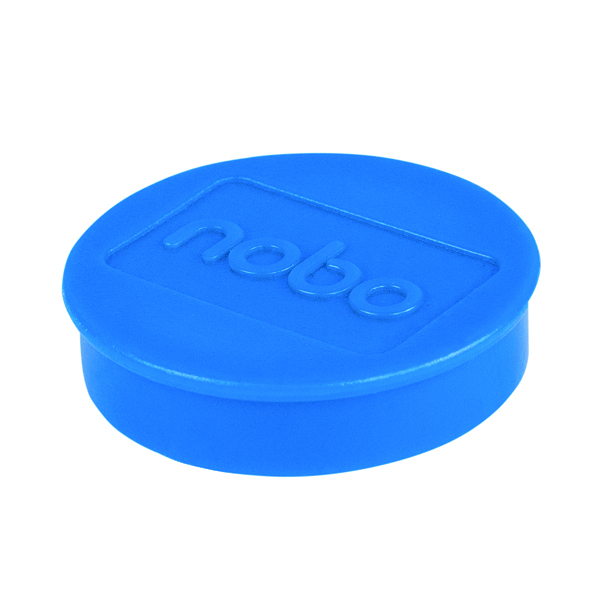 Cleaning/Erasing Nobo Whiteboard Magnets 38mm Blue (10 Pack) 1915313