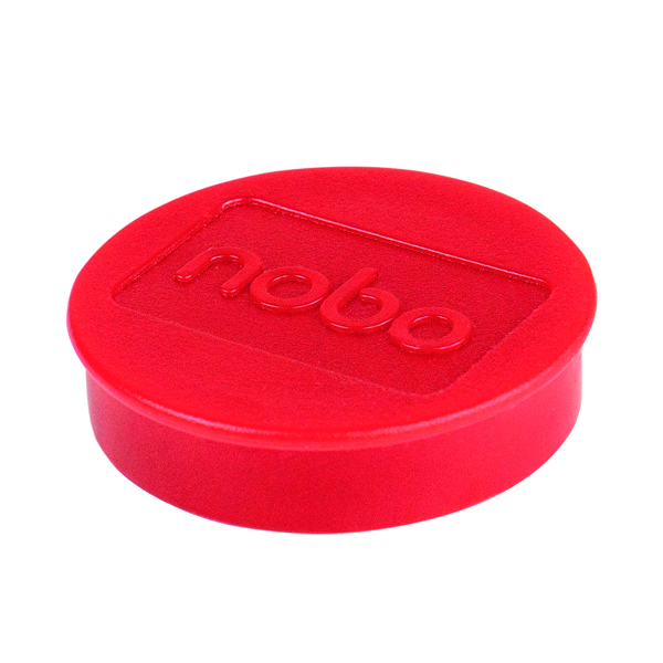 Cleaning/Erasing Nobo Whiteboard Magnets 38mm Red (10 Pack) 915314