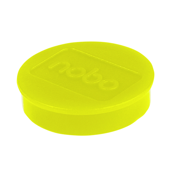 Cleaning/Erasing Nobo Whiteboard Magnets 38mm Yellow (10 Pack) 1915316