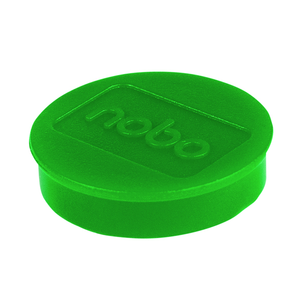 Cleaning/Erasing Nobo Whiteboard Magnets 38mm Green (10 Pack) 1915317