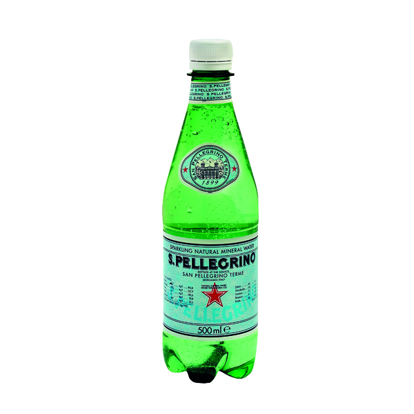 Cold Drinks San Pellegrino Sparkling Natural Mineral Water 500ml Bottles (24 Pack) 12132530