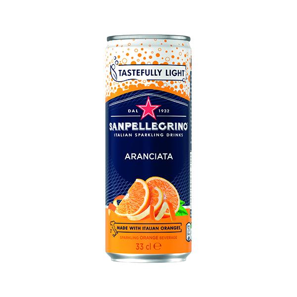 Cold Drinks San Pellegrino Aranciata Orange 330ml Cans (24 Pack) 12166832