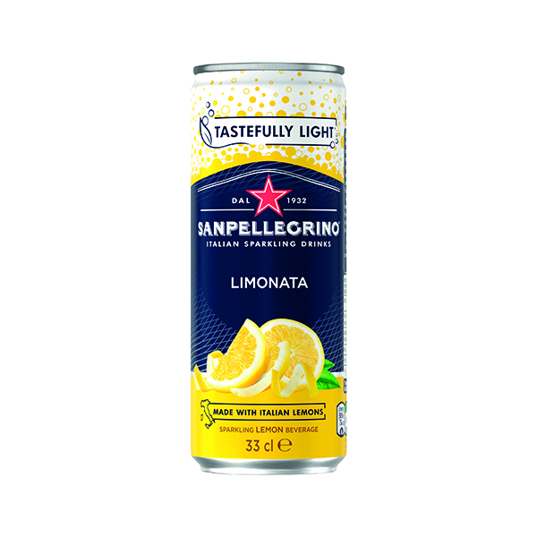 Cold Drinks San Pellegrino Limonata Lemon 330ml Cans (24 Pack) 12166912