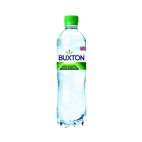 Buxton Sparkling Mineral Water 50cl Plastic Bottles (24 Pack) 12120791