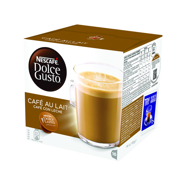 Coffee Nescafe Dolce Gusto Cafe au Lait Capsules (48 Pack) 12235939