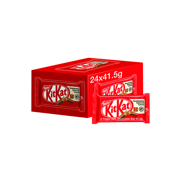 Nestle KitKat Four Finger Milk Chocolate (24 Pack) 12351222