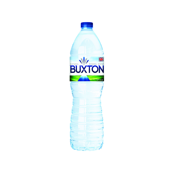 Cold Drinks Buxton Still Mineral Water 1.5 Litre Plastic Bottles (6 Pack) 12020136