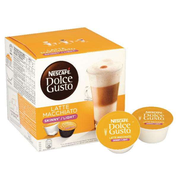 Hot Drinks Nescafe Dolce Gusto Skinny Latte Capsules (48 Pack) 12051231