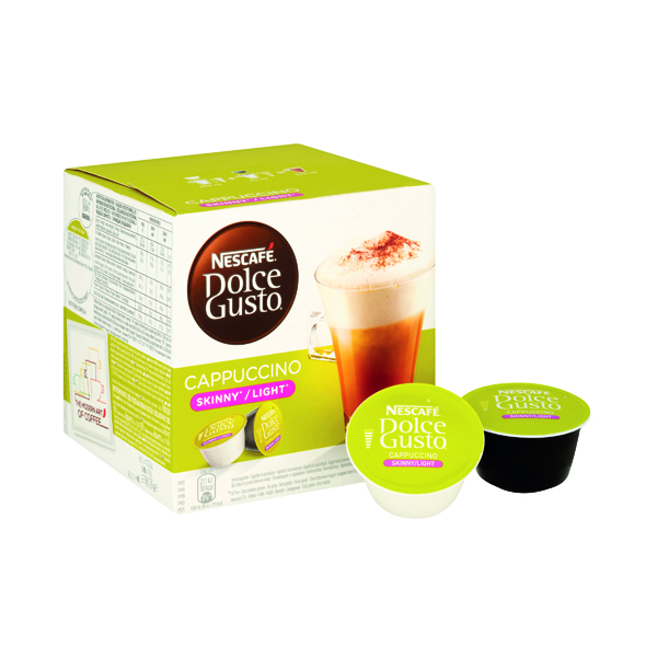 Hot Chocolate Nescafe Dolce Gusto Skinny Cappuccino Capsules (48 Pack) 12051233