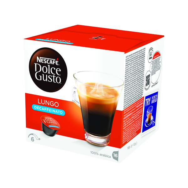 Coffee Nescafe Dolce Gusto Lungo Decaffeinated Capsules (48 Pack) 12219256
