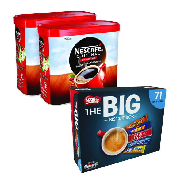 Nescafe Original Coffee 750g (2 Pack) NL819848 FOC Nestle Biscuit Box 12391006