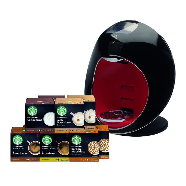 Machines Nescafe Dolce Gusto Majesto Coffee Machine with FOC Starbucks Pods (360 Pack) NL819858