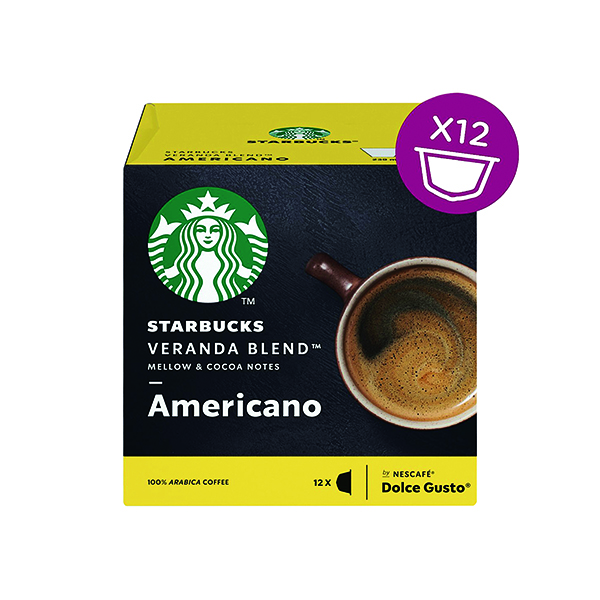 Coffee Nescafe Dolce Gusto Starbucks Americano Veranda Blend Capsules (36 Pack) 12397698