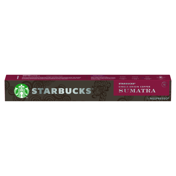 Coffee Nespresso Starbucks Sumatra Espresso Coffee Pods (10 Pack) 12423376