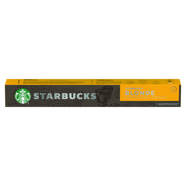 Coffee Nespresso Starbucks Blonde Roast Espresso Coffee Pods (10 Pack) 12423392
