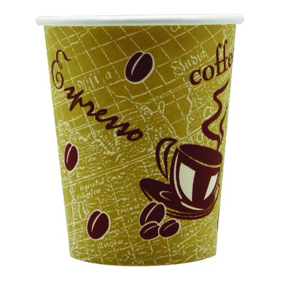Drinks Stirrers & Straws Single Wall Paper Cup 8oz Printed (50 Pack) 8209936