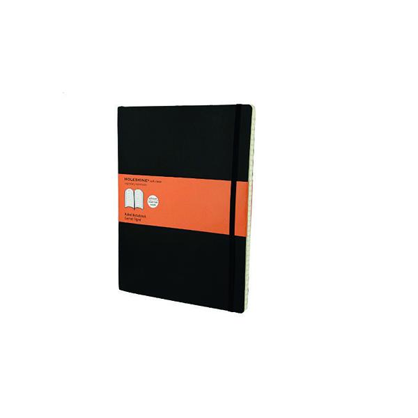 Moleskine Ruled Soft Cover Notebook Extra Large Black QP621