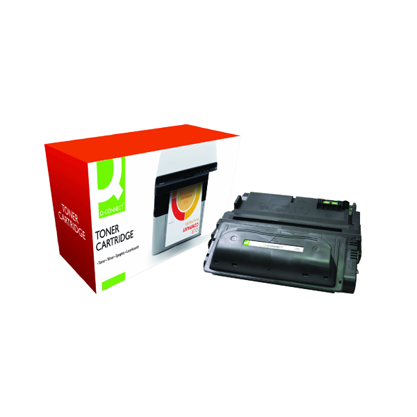 Black Q-Connect Compatible Solution HP 38A Black Laserjet Toner Cartridge Q1338A