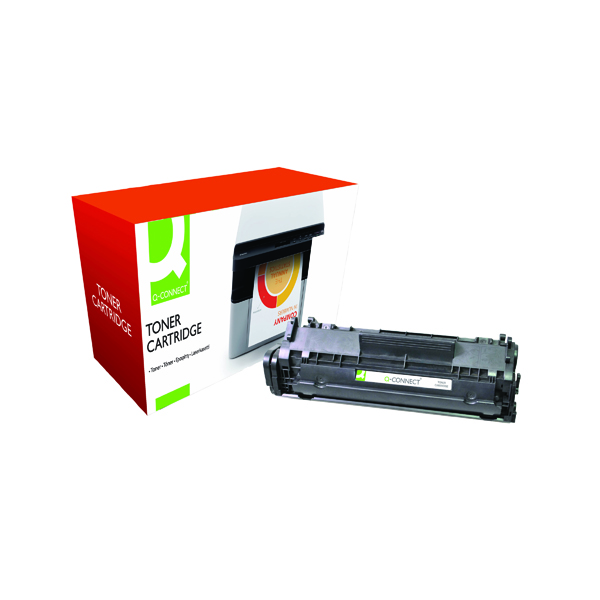 Black Q-Connect Compatible Solution HP 12A Black Laserjet Toner Cartridge Q2612A