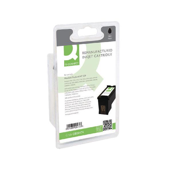 Q-Connect HP 339 Reman Black High Yield Inkjet Cartridge C8767EE
