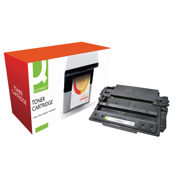 Black Q-Connect Compatible Solution HP 11X Black Laserjet Toner Cartridge High Capacity Q6511X