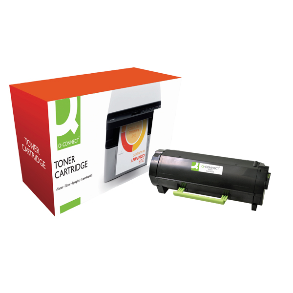 Black Q-Connect Compatible Solution Lexmark MS610 Black Toner Ultra High Yield 50F2U00