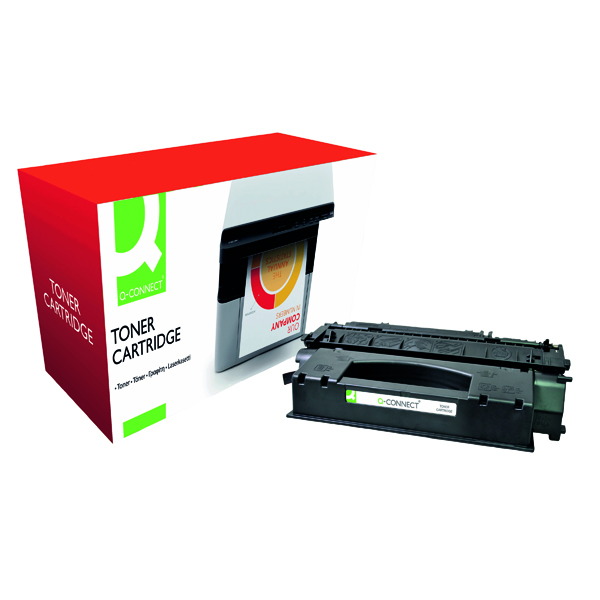 Black Q-Connect Compatible Solution HP 53X Black Laserjet Toner Cartridge High Capacity Q7553X