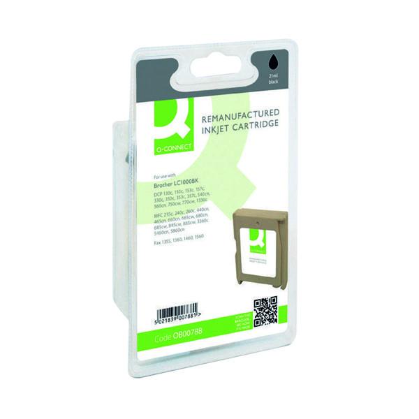 Q-Connect Brother Reman Black Inkjet Cartridge LC1000BK