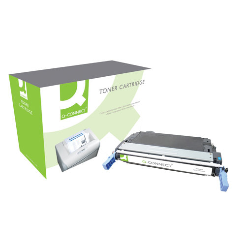 Cyan Q-Connect HP 644A Remanufactured Cyan LaserJet Toner Cartridge Q6461A