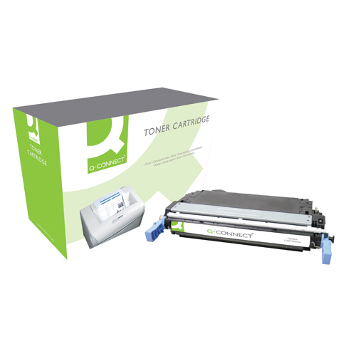 Black Q-Connect HP 642A Remanufactured Black LaserJet Toner Cartridge CB400A