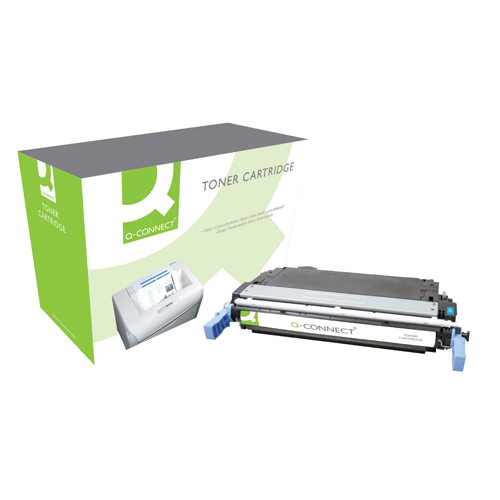 Cyan Q-Connect HP 642A Remanufactured Cyan LaserJet Toner Cartridge CB401A