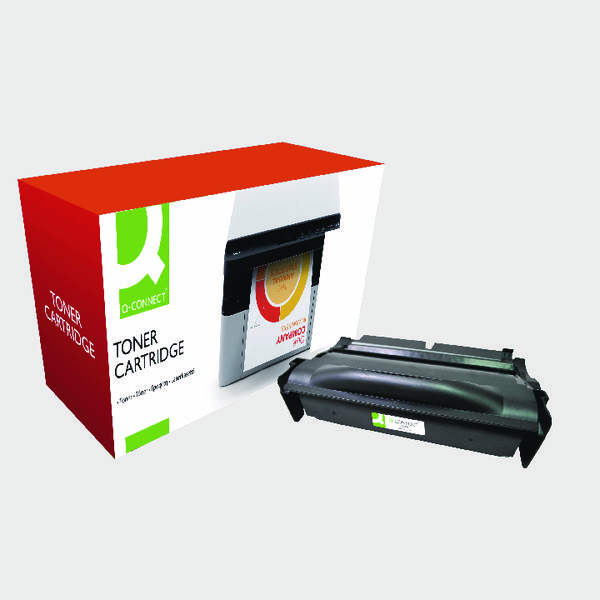 Black Q-Connect Lexmark T430 Series Laser Toner Black 12A8325