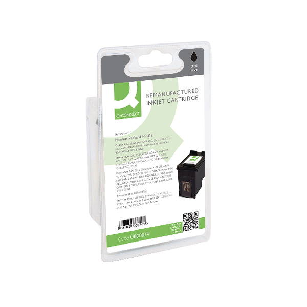 Black Q-Connect HP 338 Reman Black Inkjet Cartridge C8765E