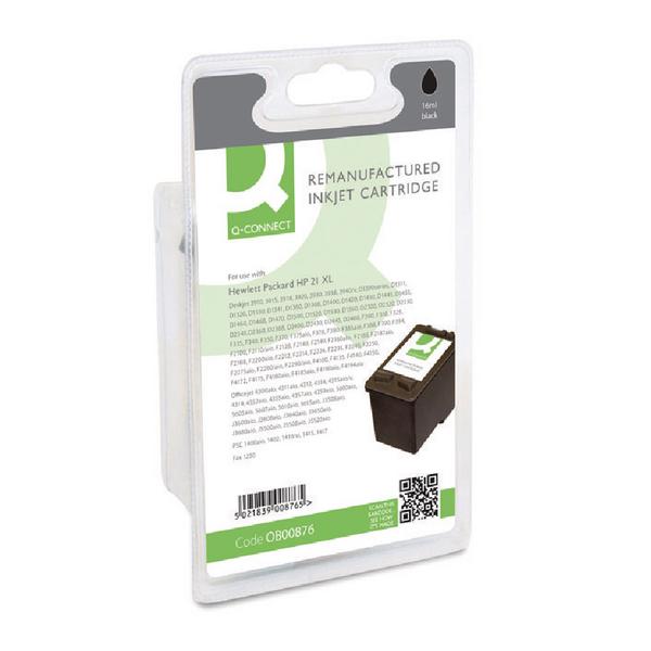 Q-Connect HP 21 Reman Black Inkjet Cartridge C9351AE