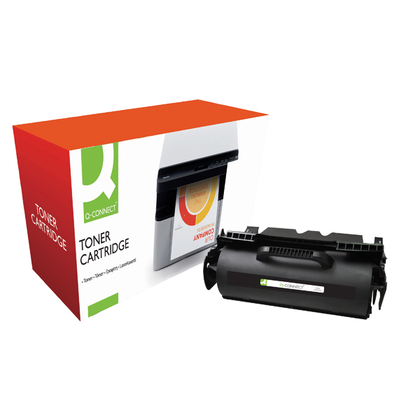 Black Q-Connect Remanufactured Lexmark T640/T642/T644 Laser Toner Cartridge High Yield Black 64004HE-COMP