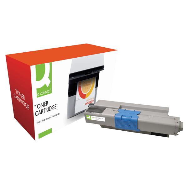 Black Q-Connect Compatible Solution Oki Toner Cartridge 44973536 Black 44973536