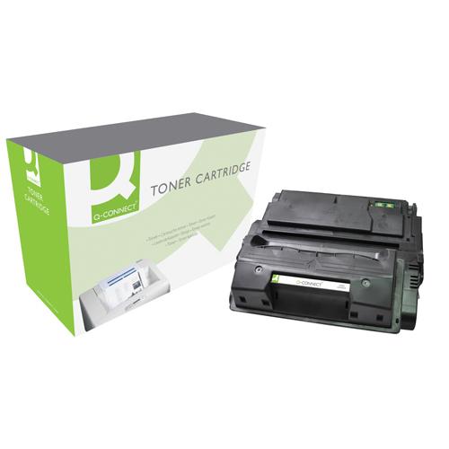 Black Q-Connect Compatible Solution HP 39A Black Laserjet Toner Cartridge Q1339A