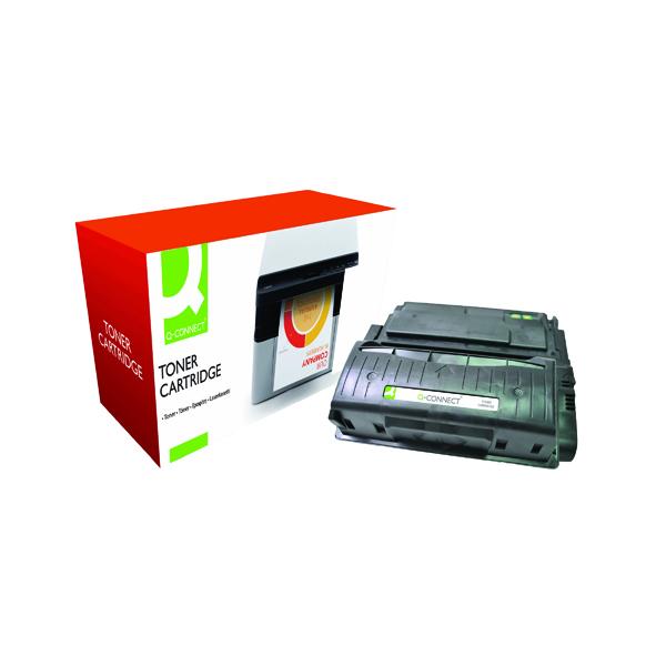 Black Q-Connect Compatible Solution HP 42X Black Laserjet Toner Cartridge High Capacity Q5942X