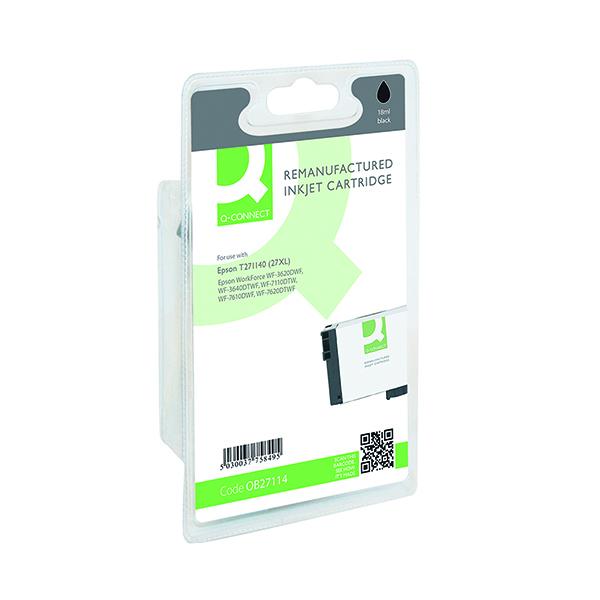 Black Q-Connect Epson 27XL Black Inkjet Cartridge C13T271140