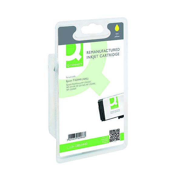 Colour Q-Connect Epson 16XL Reman Yellow High Yield Inkjet Cartridge C13T16344010 / T163440