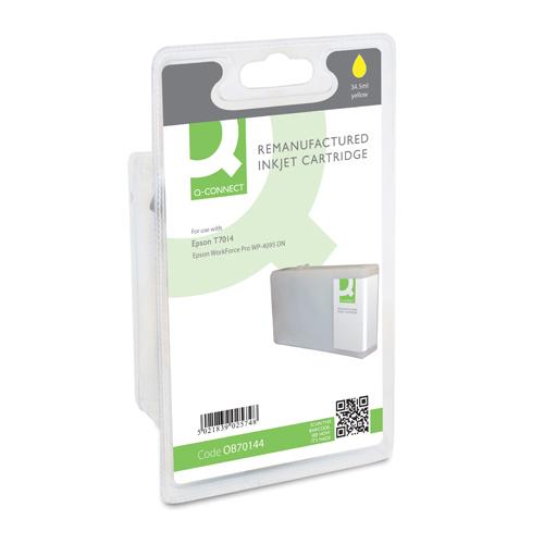 Q-Connect Epson T7014 Reman Yellow Inkjet Cartridge C13T70144010 / T701440