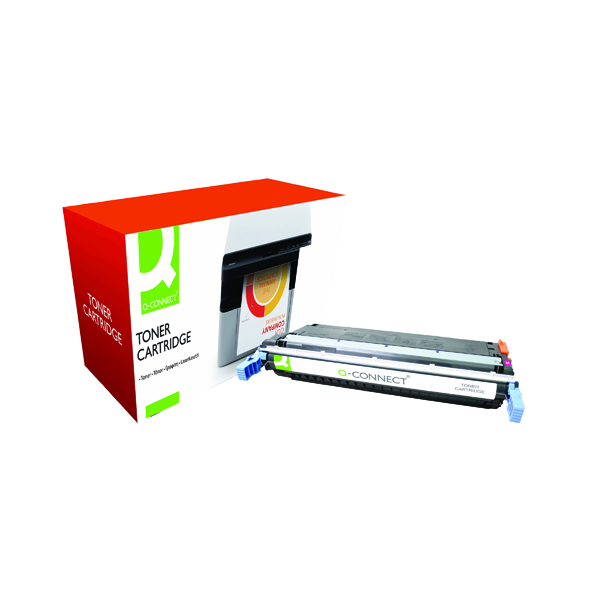 Magenta Q-Connect HP 645A Remanufactured Magenta LaserJet Toner Cartridge C9733A